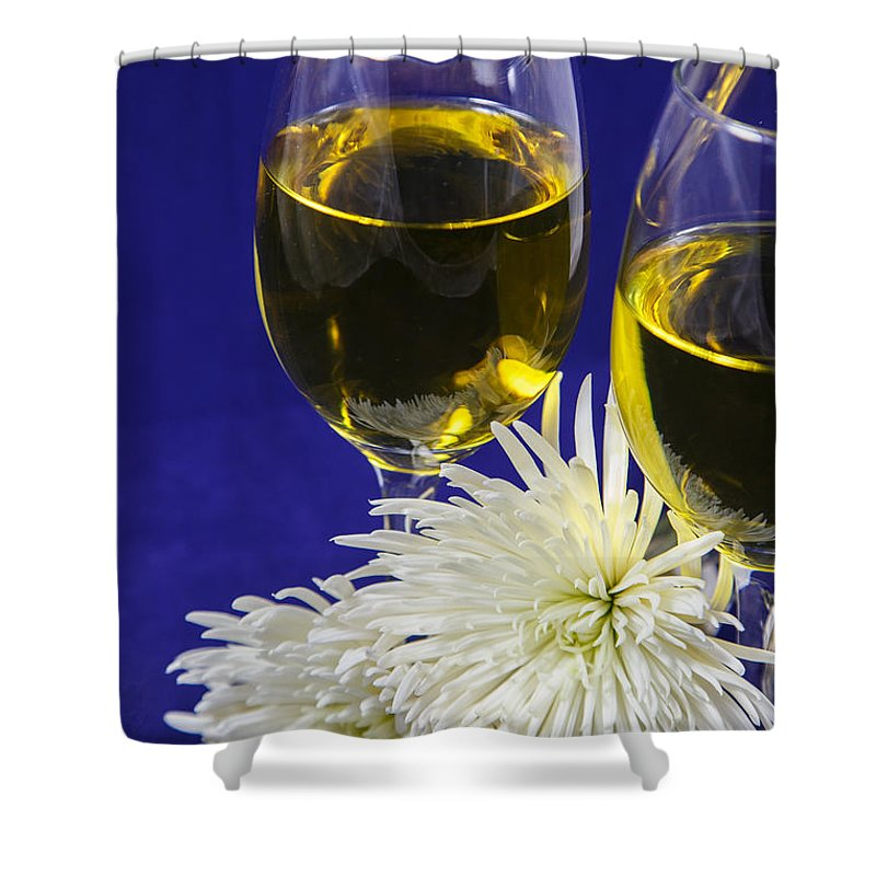 Wine Shower Curtain featuring the photograph A Little Romance Tonight by Terri Morris
