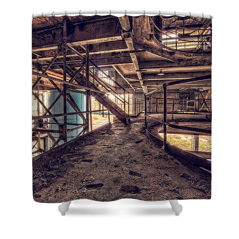 Quarry Shower Curtain featuring the photograph A Look Into The Past. by Everet Regal