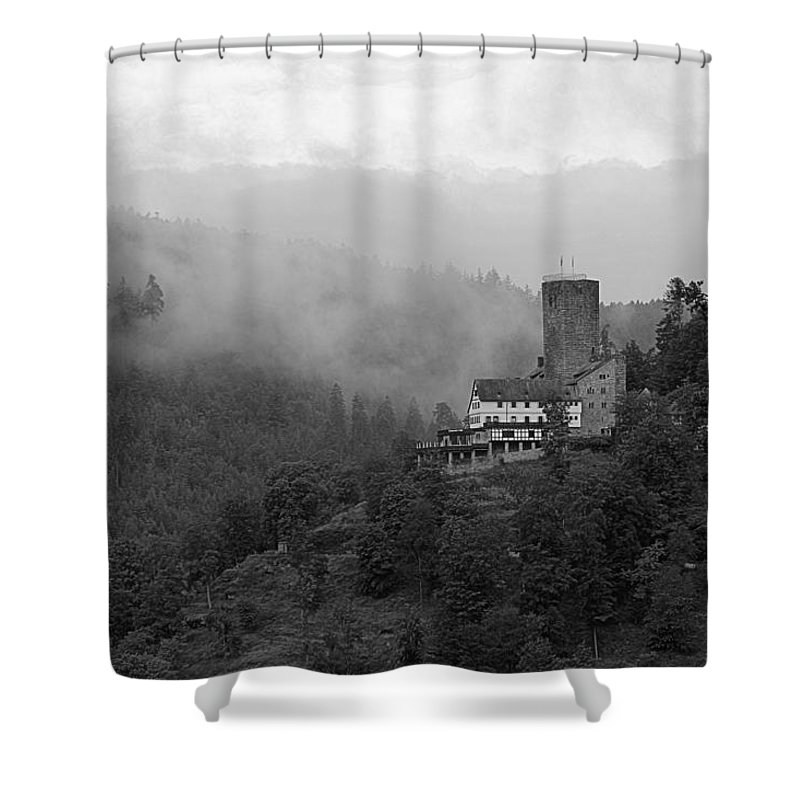 Castle Shower Curtain featuring the photograph A Mighty Fortress by Martin Michael Pflaum