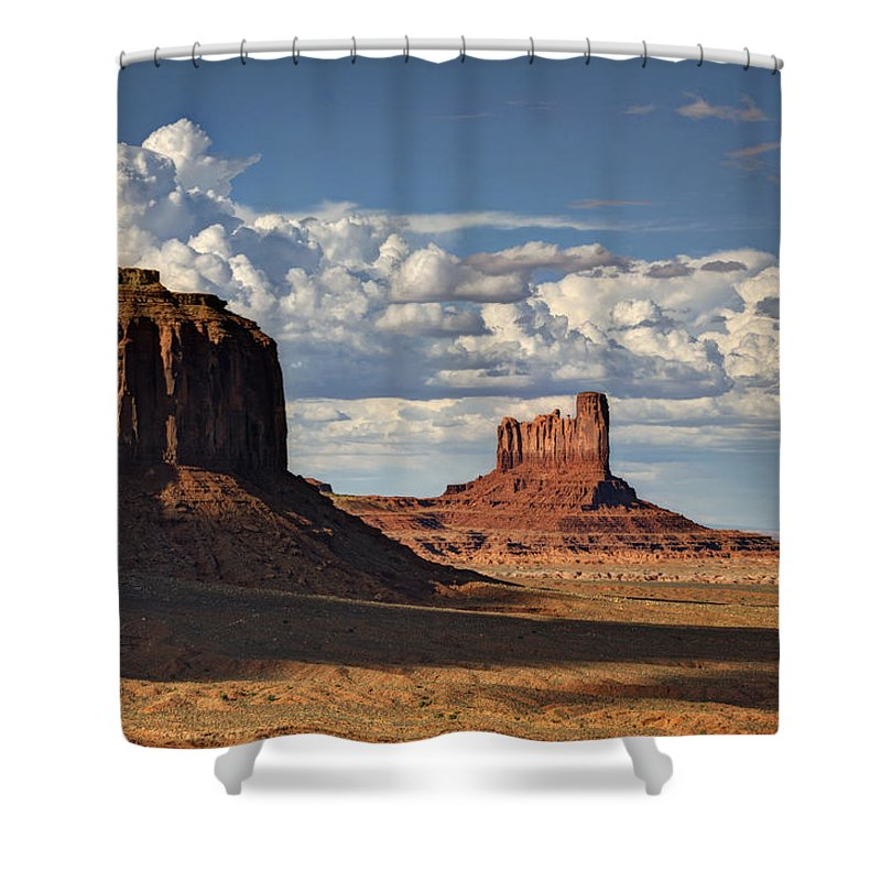 Monument Valley Shower Curtain featuring the photograph A Monumental Morning by Saija Lehtonen