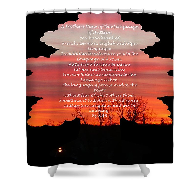 Autism Shower Curtain featuring the photograph A Mother's View Of Autism by Nicki Bennett