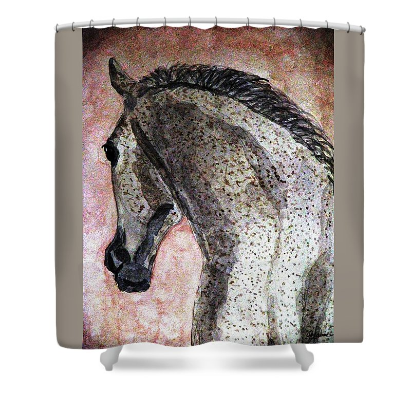 Horse Shower Curtain featuring the painting A New Dawn by Angela Davies