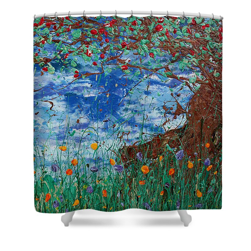 Decorator Art Shower Curtain featuring the painting A Nice Place For A Nap by Ric Bascobert