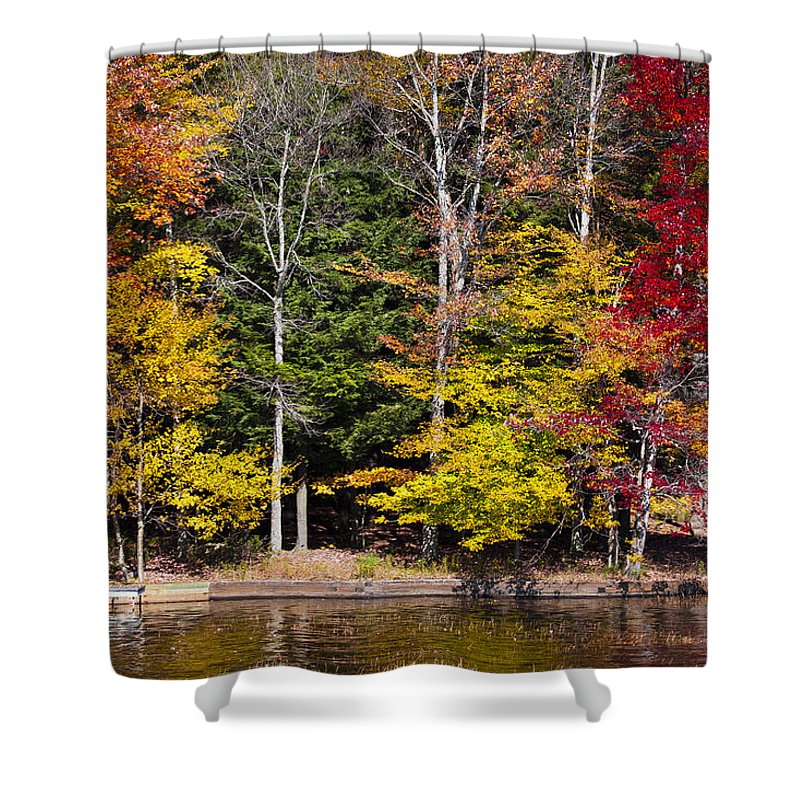 Adirondack's Shower Curtain featuring the photograph A Place To Relax In The Adirondacks by David Patterson