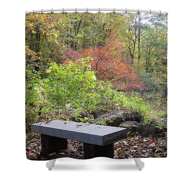 Barbara Bardzik Shower Curtain featuring the photograph A Place To Think II by Barbara Bardzik
