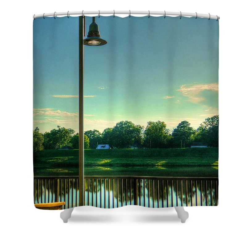 Lamp Shower Curtain featuring the photograph A Recall Of Yesterday by Ester Rogers