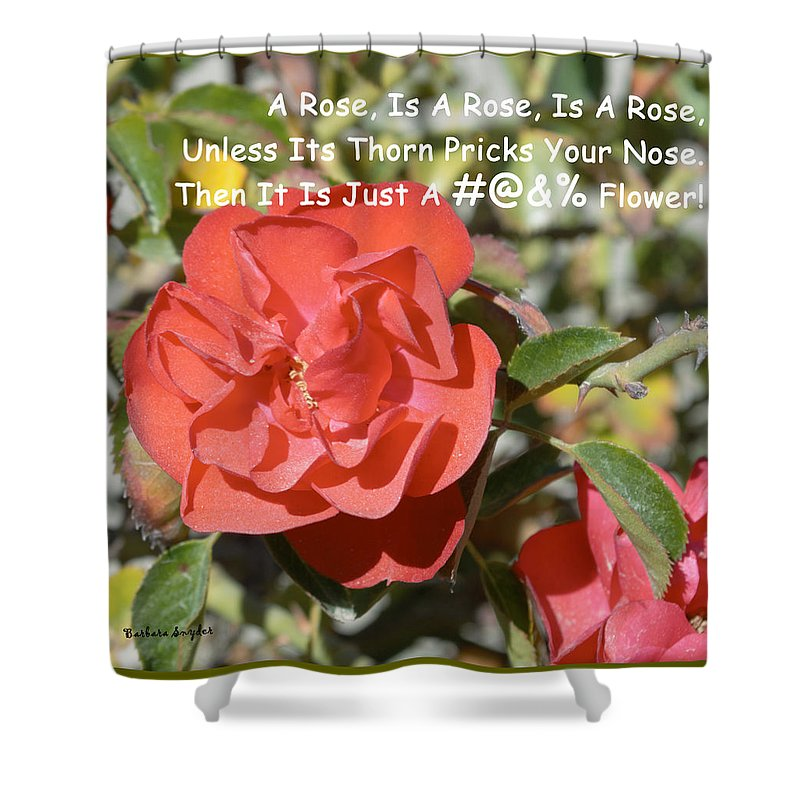 Barbara Snyder Shower Curtain featuring the digital art A Rose Is A Rose by Barbara Snyder