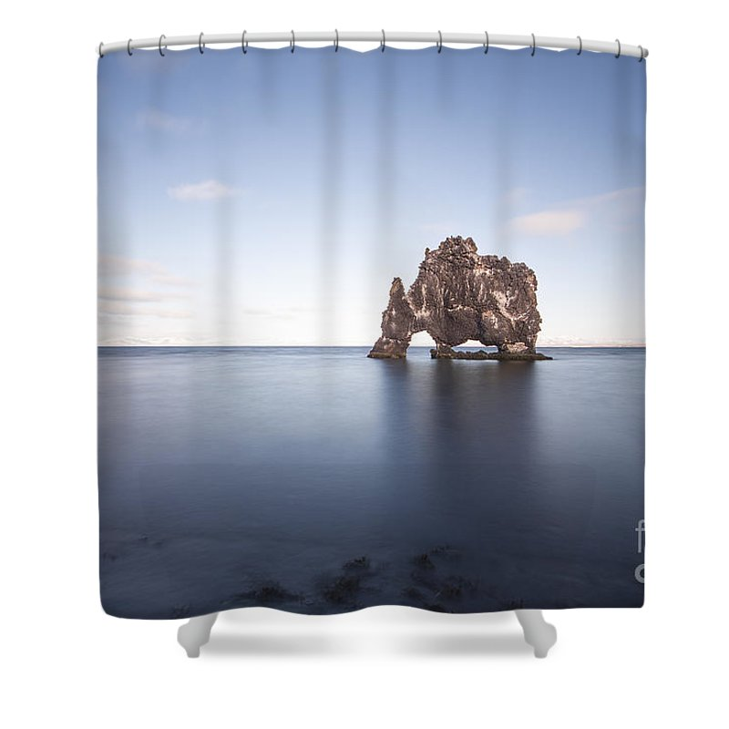 Hvitserkur Shower Curtain featuring the photograph A Sea Of Thirst by Evelina Kremsdorf