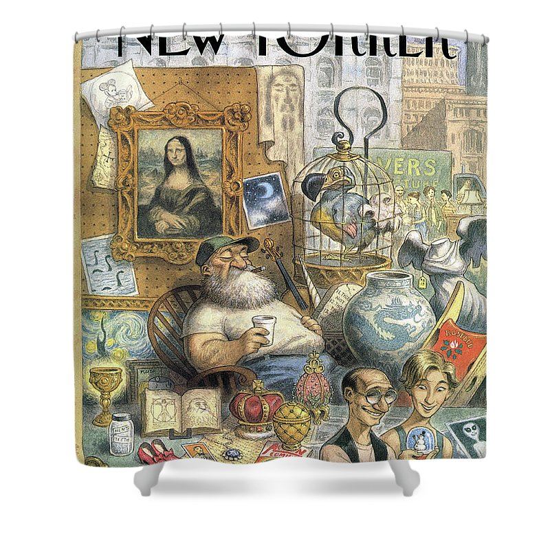 A Shopkeeper Sells Odd Items Shower Curtain For Sale By Peter De Seve