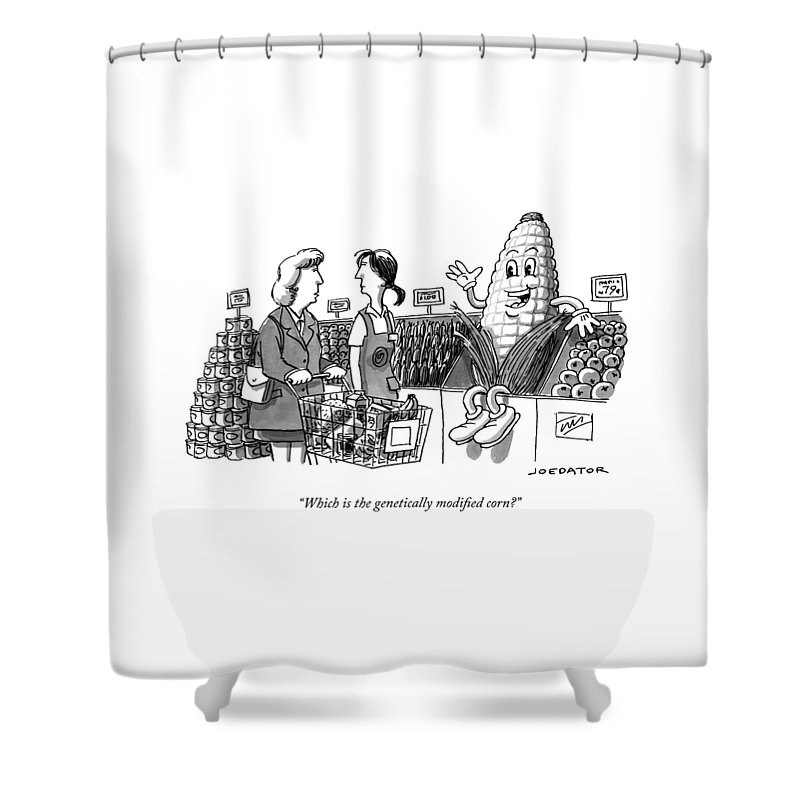 8a94a566d Which Is The Genetically Modified Corn Shower Curtain for Sale by ...