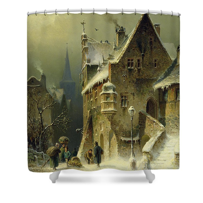Lamppost Shower Curtains