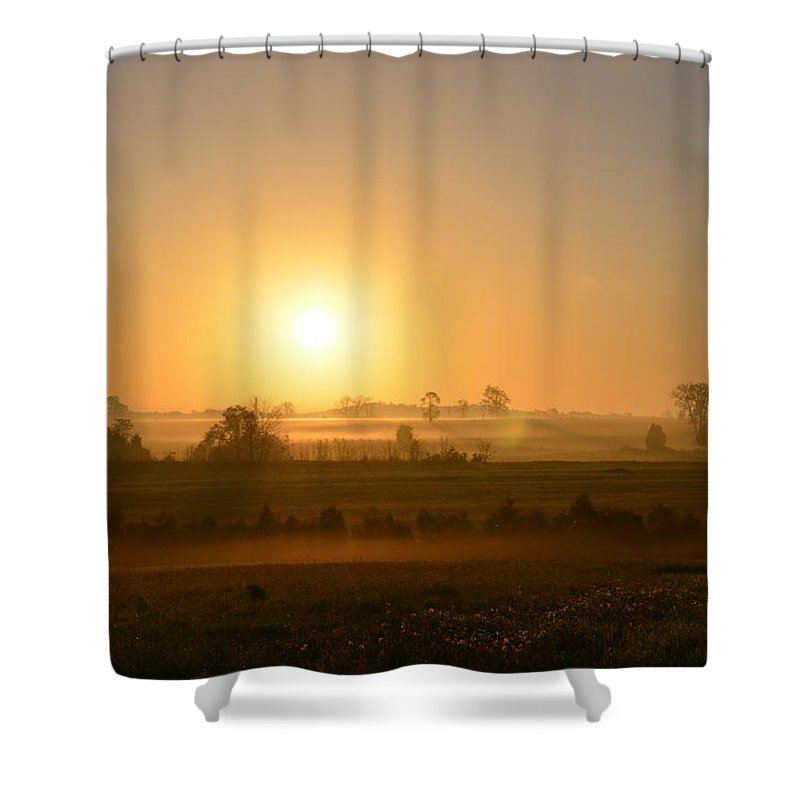 Spring Shower Curtain featuring the photograph A Spring Morning At Gettysburg by Bill Cannon