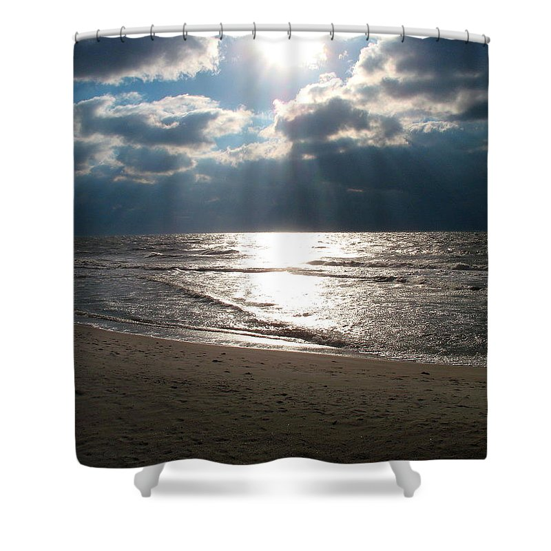 Storm Shower Curtain featuring the photograph A Storm Is Brewing Over The Gulf Coast by Christiane Schulze Art And Photography