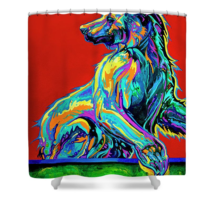 Bear Paintings Shower Curtain featuring the painting A Taste Of Honey by Derrick Higgins