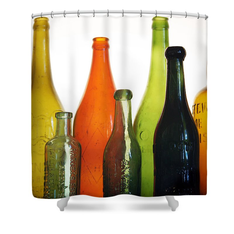 Bottle Shower Curtain featuring the photograph A Thirst for Timelessness by Holly Kempe