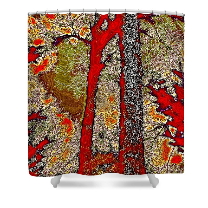 David Patterson Shower Curtain featuring the photograph A Touch Of Autumn Abstract V by David Patterson