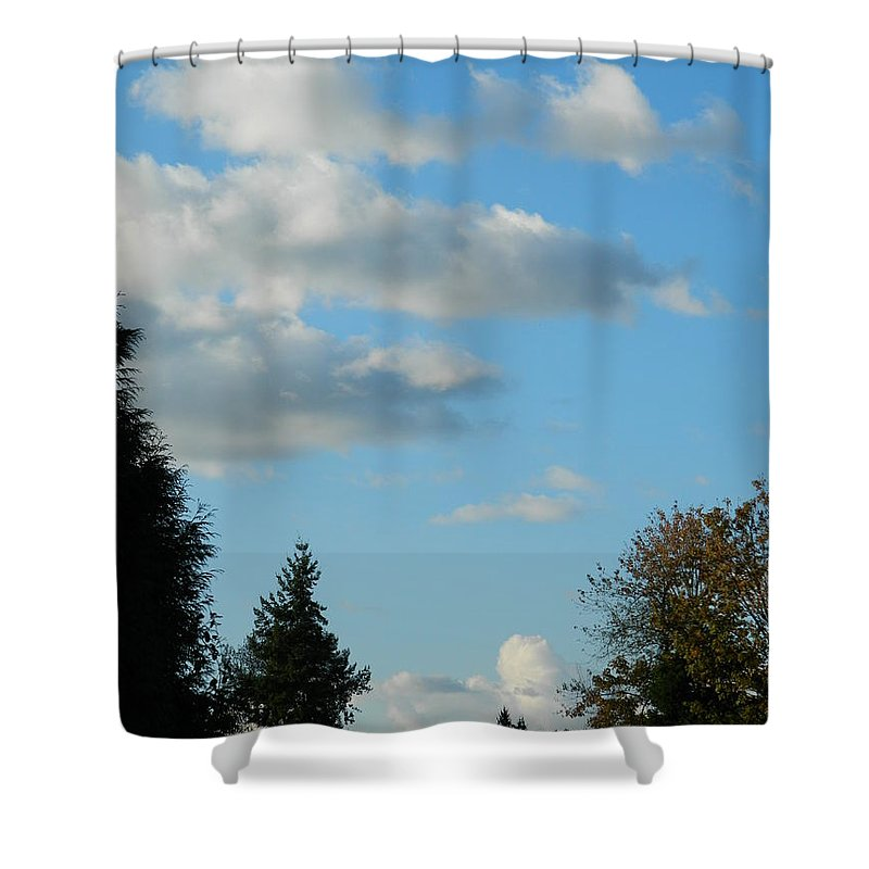 Clouds Shower Curtain featuring the photograph A Touch Of Cloudy by Nicki Bennett