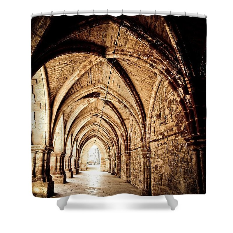 Perspective Shower Curtain featuring the photograph A View Of The Past by Brothers Beerens