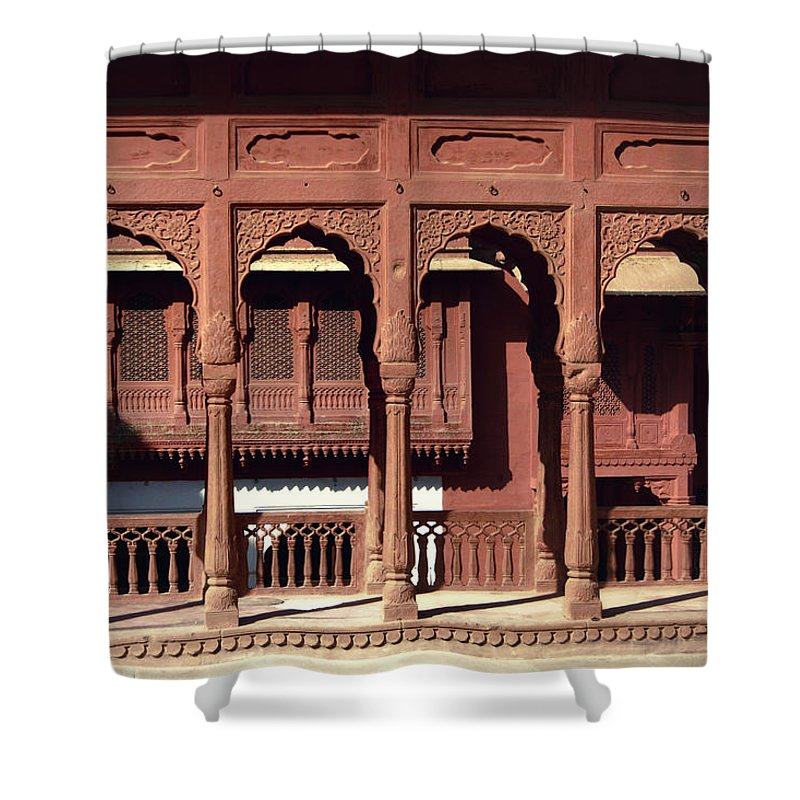 Areyarey Shower Curtain featuring the photograph A Walk Among The Arches.. by A Rey