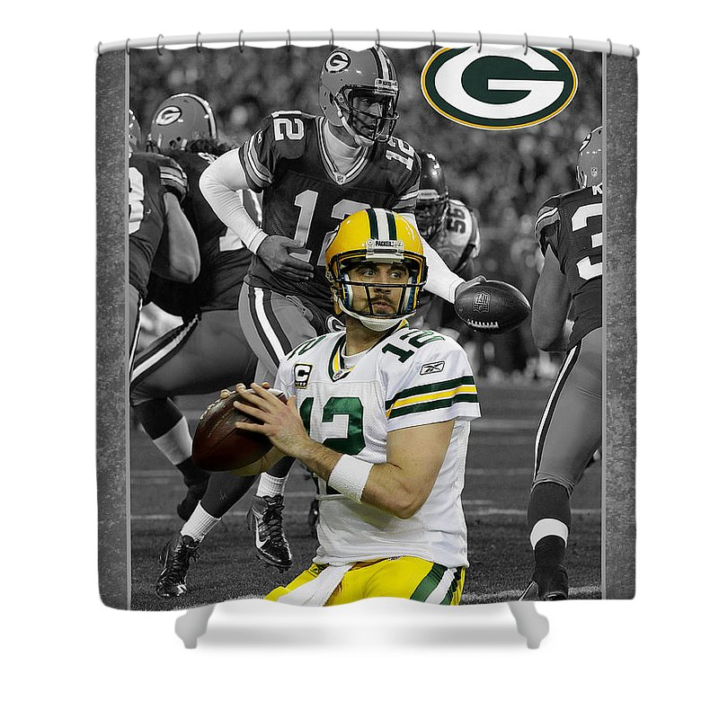 Aaron Rodgers Shower Curtain Featuring The Photograph Packers By Joe Hamilton
