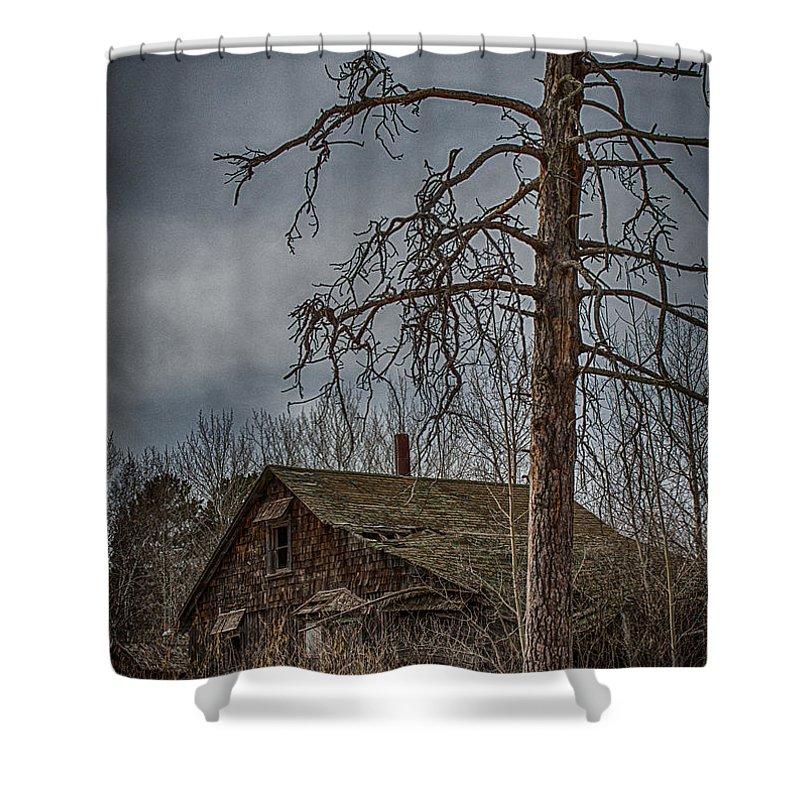Old Shower Curtain featuring the photograph Abandoned House by Paul Freidlund