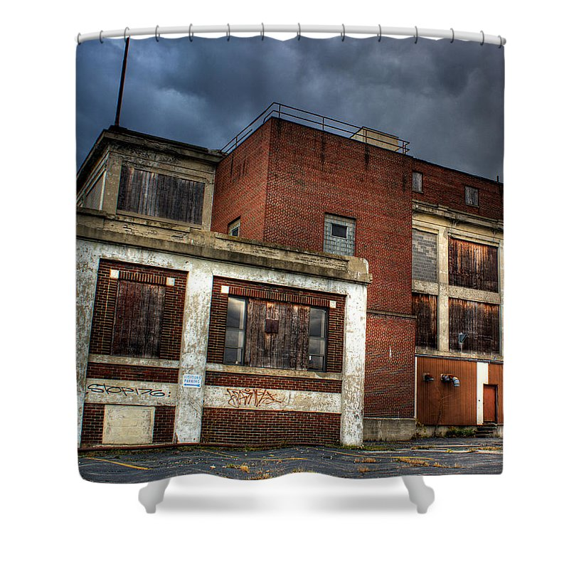 Abandoned Building Shower Curtain featuring the photograph Abandoned In Hdr by Tim Buisman