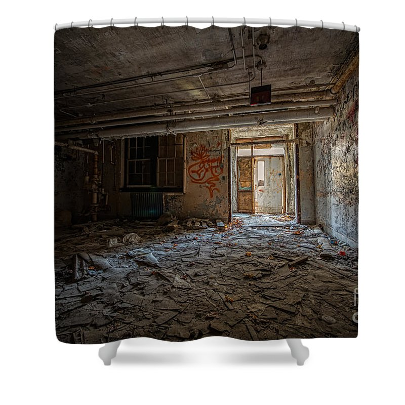 Urbex Shower Curtain featuring the photograph Abandoned by Michael Ver Sprill