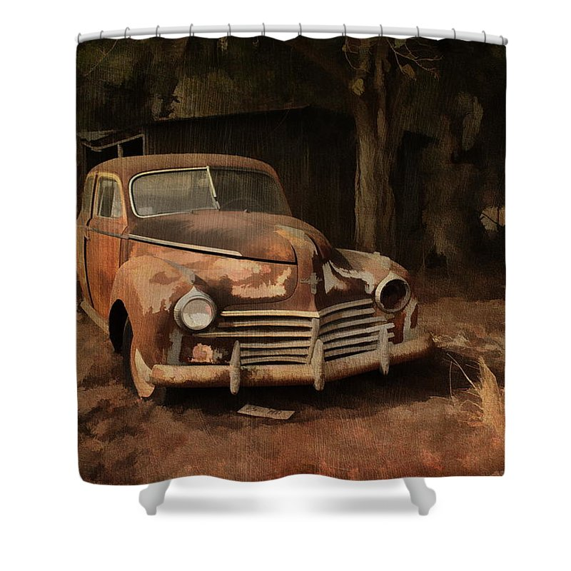 Abandoned Old Car Shower Curtain For Sale By Terry Fleckney