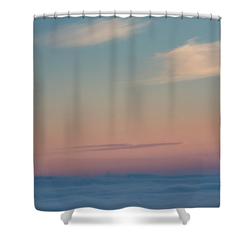 Landscapes Shower Curtain featuring the photograph Above The Clouds by Davorin Mance