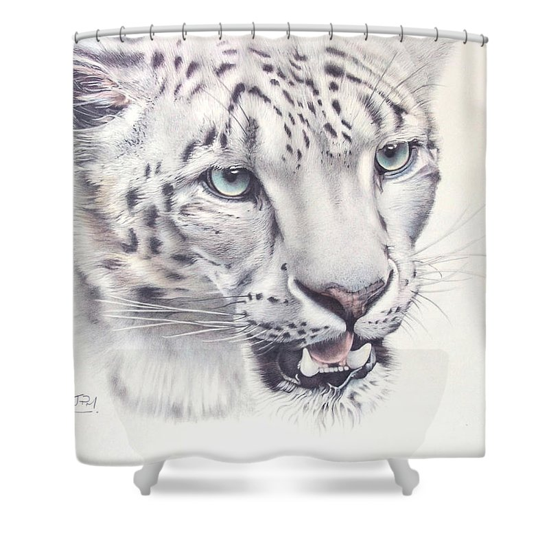 Jill Parry Shower Curtain Featuring The Drawing Above Clouds