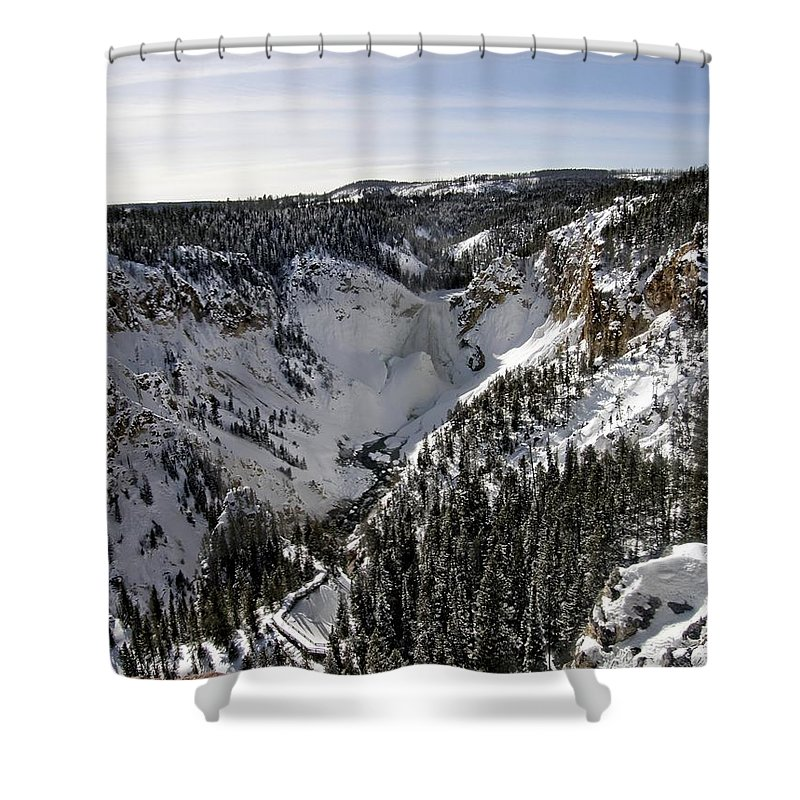 Yellowstone Shower Curtain featuring the photograph Above The Tree Line by Image Takers Photography LLC - Carol Haddon