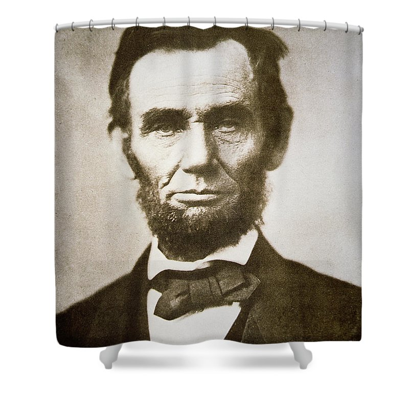 Abraham Shower Curtain featuring the photograph Abraham Lincoln by Alexander Gardner