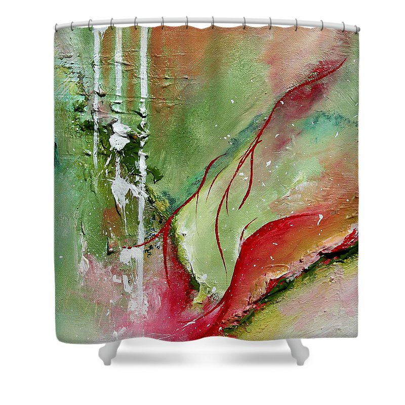 Abstract Shower Curtain featuring the painting Abstract # 10 - Original Available by Chesney Rheaume