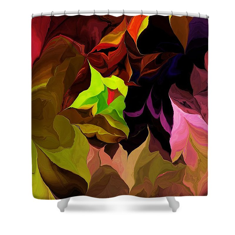 Fine Art Shower Curtain featuring the digital art Abstract 012014 by David Lane