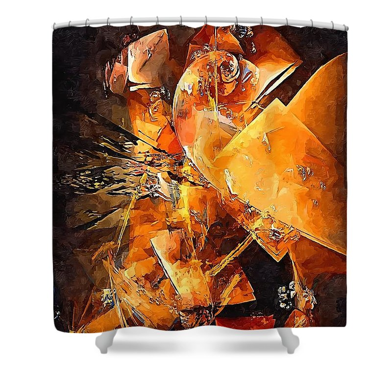 Graphics Shower Curtain featuring the digital art Abstract 0549 - Marucii by Marek Lutek