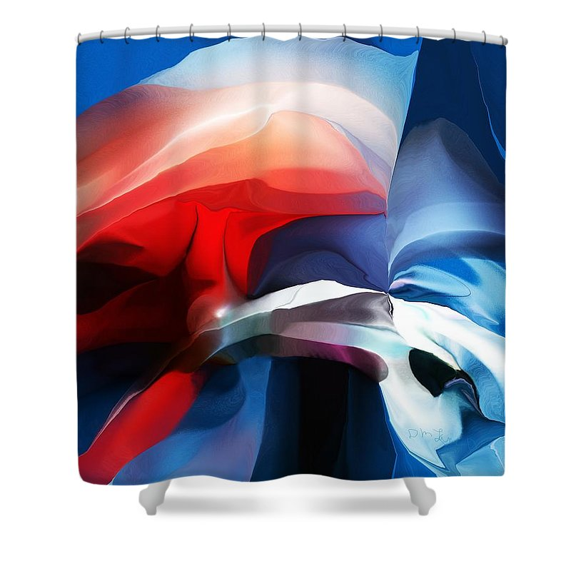 Abstract Shower Curtain featuring the digital art Abstract 071713 by David Lane