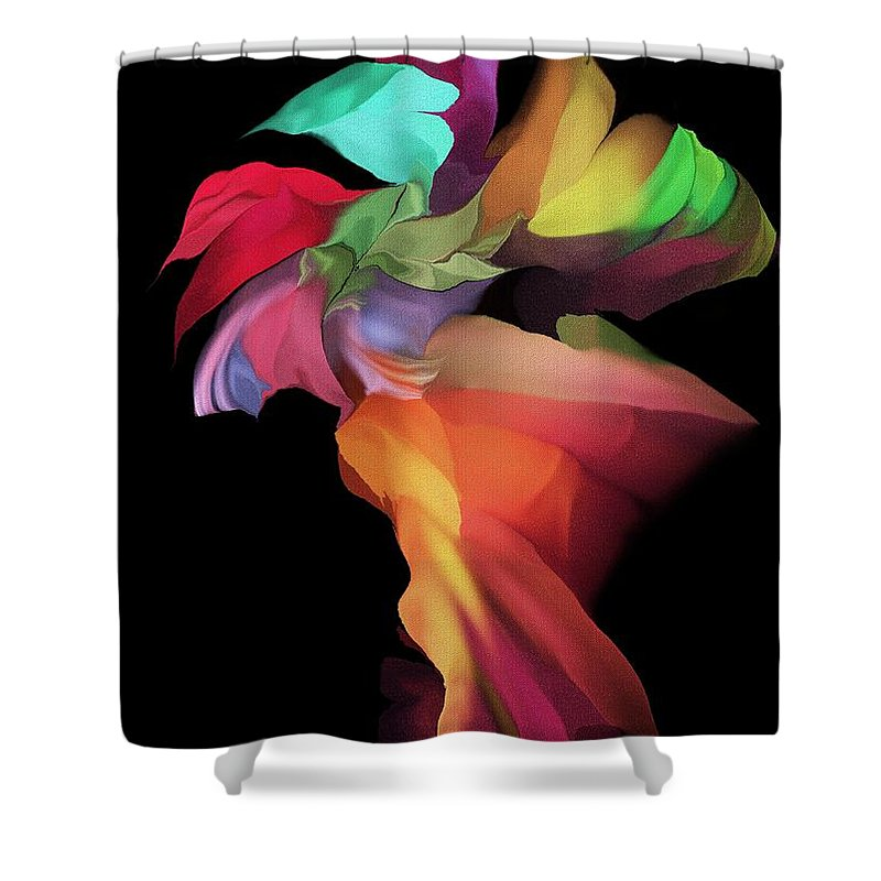 Fine Art Shower Curtain featuring the digital art Abstract 112313 by David Lane
