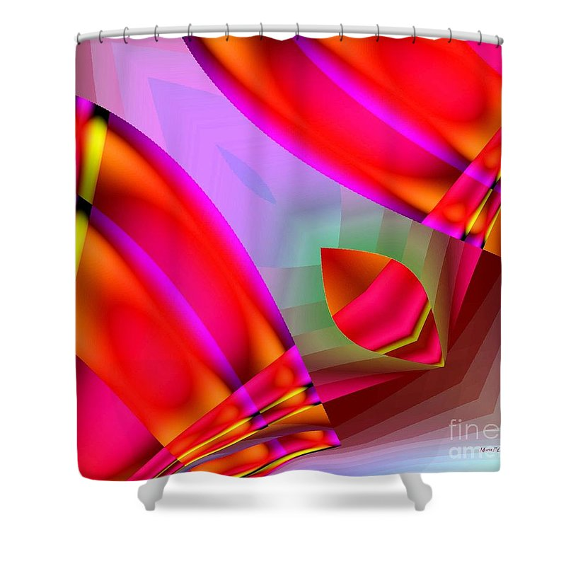 Abstract Shower Curtain featuring the digital art Abstract 134 by Maria Urso