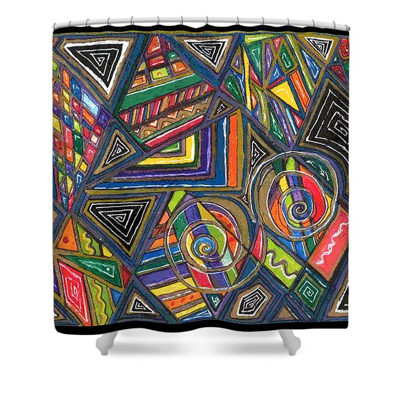 Digital Shower Curtain featuring the painting Abstract 33 by Arleen McCann