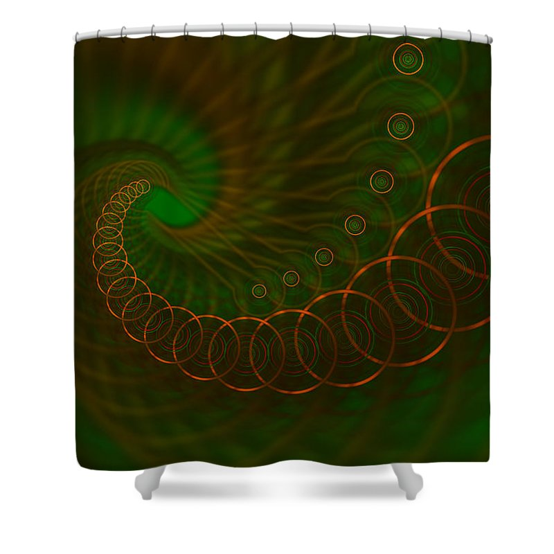 Circles Shower Curtain featuring the digital art Abstract 340 by Judi Suni Hall