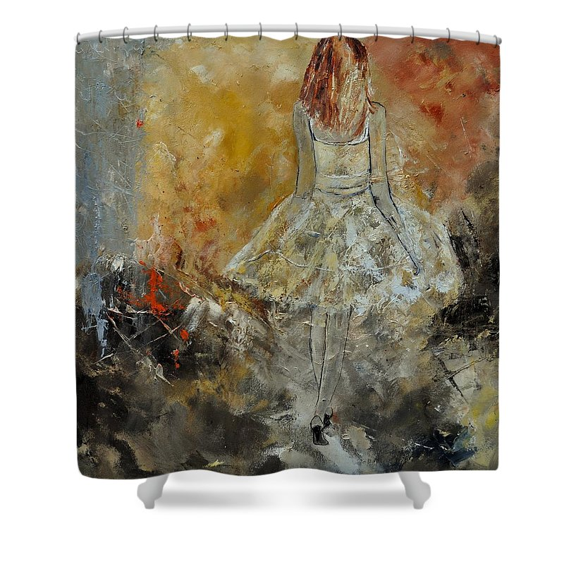 Shower Curtain featuring the painting Abstract 8821151 by Pol Ledent