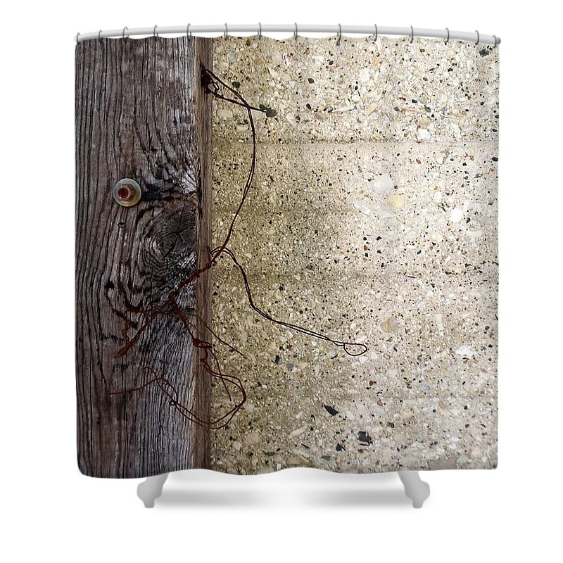 Industrial. Urban Shower Curtain featuring the photograph Abstract Concrete 11 by Anita Burgermeister