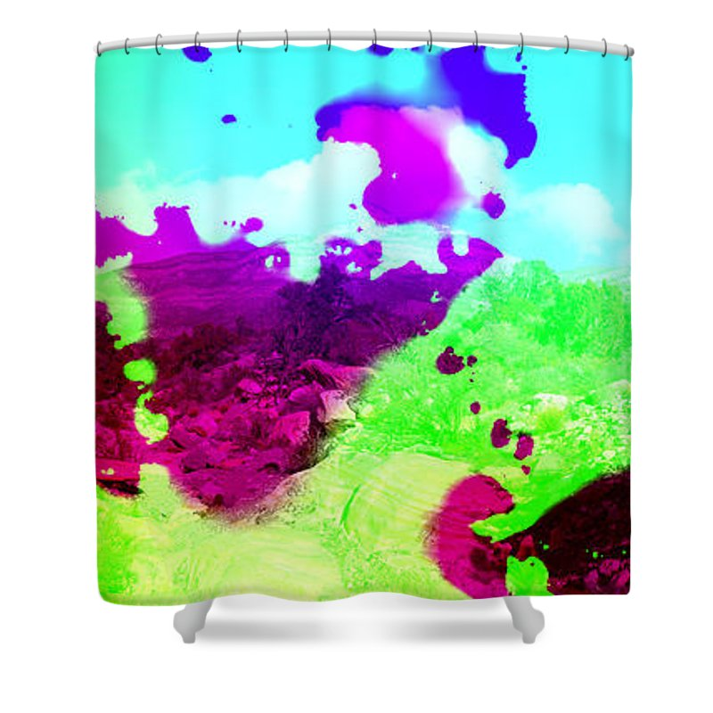 Abstract Shower Curtain featuring the photograph Abstract Desert Scene by Alan and Marcia Socolik