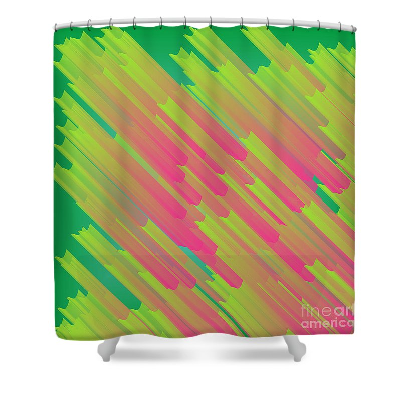 Structures Shower Curtain featuring the digital art Abstract Glowing Structures by Gaspar Avila