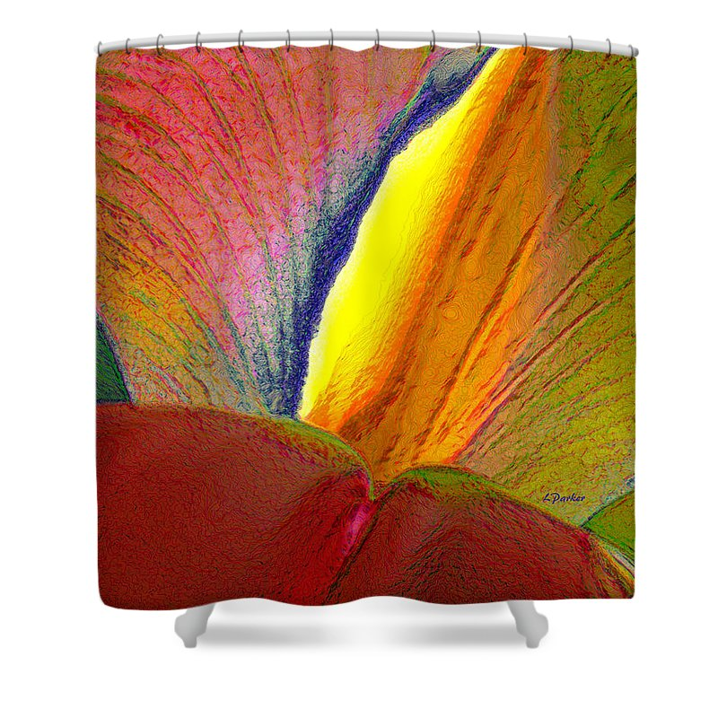 Abstract Shower Curtain featuring the photograph Abstract Iris 2 by Linda Parker