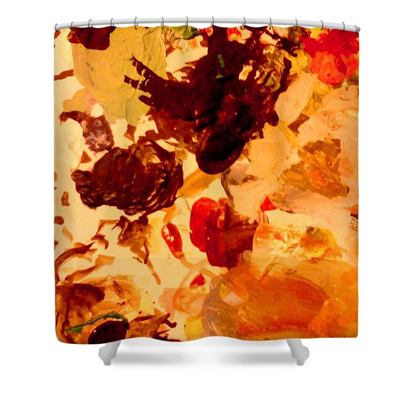 Abstract Shower Curtain featuring the painting Abstract Number One by Stacy C Bottoms
