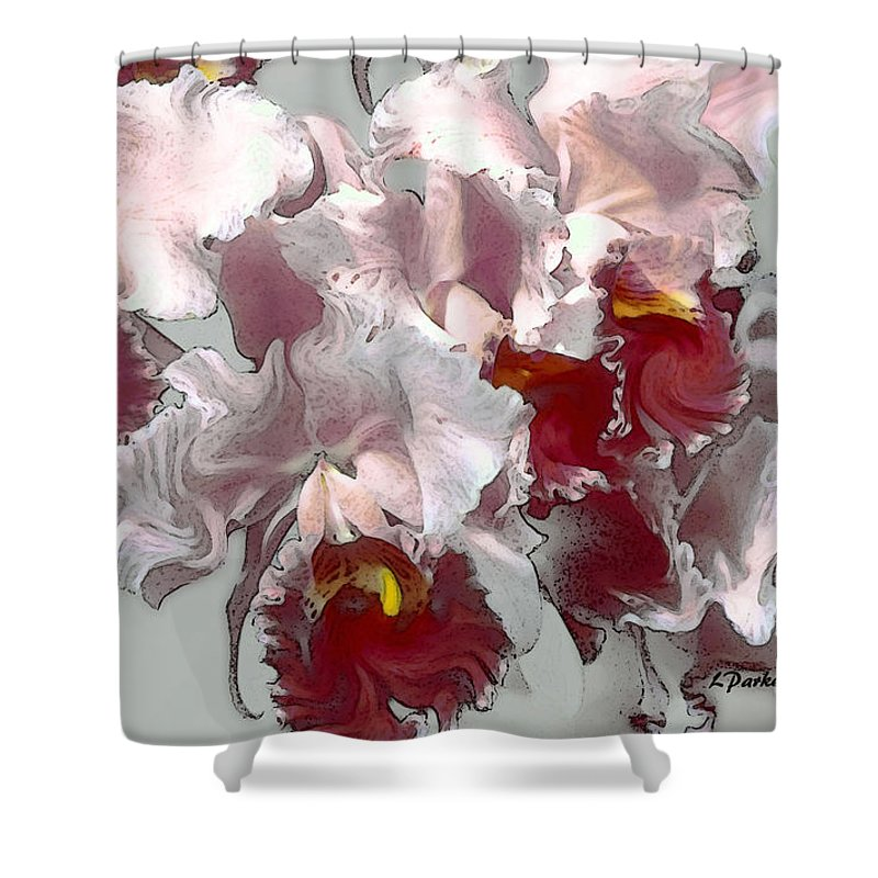 Abstract Shower Curtain featuring the photograph Abstract Orchid by Linda Parker
