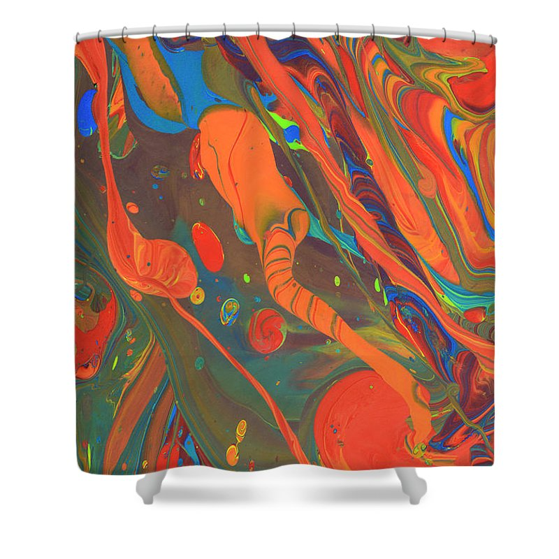 Full Frame Shower Curtain featuring the photograph Abstract Paint Background by Don Farrall