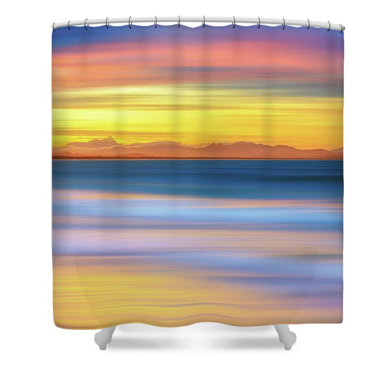 Tranquility Shower Curtain featuring the photograph Abstract Sunset by Andriislonchak
