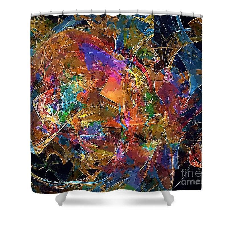 Graphics Shower Curtain featuring the digital art Abstraction 0357 Marucii by Marek Lutek